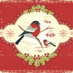 Greeting card.Vintage christmas image — Stock Vector
