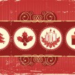 Royalty-Free Stock Imagem Vetorial: Vintage christmas background card for holiday