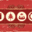 Vintage christmas background card for holiday — Imagen vectorial