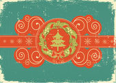 Vintage Christmas card for background — Stock Vector