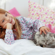 Child resting at home — Stock Photo