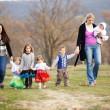 Walk with children — Stock Photo