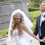 Happy wedding couple — Stock Photo #6802623