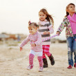 Kids playing at the beach — Stock Photo #6802736