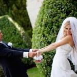 Happy wedding couple — Stock Photo #6885037