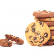 Biscuits with pieces of chocolate coating — Stock Photo