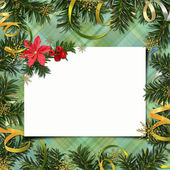 Congratulation card to Christmas and New year — Stock Photo
