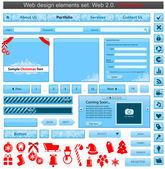 Christmas web design elements set — Stock Vector