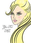 красивая девушка в моде стиль — Cтоковый вектор