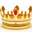 Stock Photo: Gold royal crown. 3d illustration.