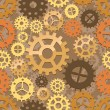 Seamless cogs background - Stock Vector