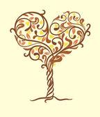 árbol del amor — Vector de stock