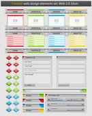 Creative web design elements set. — Stock Vector