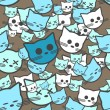 Royalty-Free Stock Vector Image: Seamless pattern with funny cats