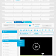 Web design template set 2.0. — Vector de stock #7244835