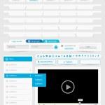conjunto de plantillas de diseño web 2.0 — Vector de stock