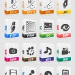Stock Vector: File type 3d icons set.