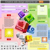 創造的な web デザインの要素を設定. — ストックベクタ