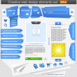 Creative web design elements set — Stock Vector