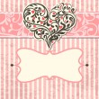 Royalty-Free Stock Vector Image: Vintage card with abstract heart