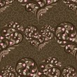 Seamless pattern with abstract heart — 图库矢量图片