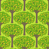Seamless pattern with trees — Stock Vector