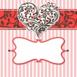 Stock Vector: Vintage card with abstract heart