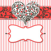 Vintage card with abstract heart — Stock Vector