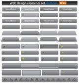 Web buttons set. — Stock Vector