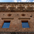 Wall of Palace of Carlos V in Granada, Spain - Stock Photo