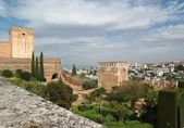 Zámek alhambra v granadě, španělsko — Stock fotografie