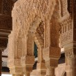 Beautiful carved columns in Alhambra palace in Granada — Stock Photo