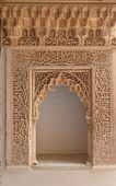 Carved door in the Alhambra palace in Granada, Spain — Stock Photo