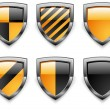 Vector de stock : Shield security icons