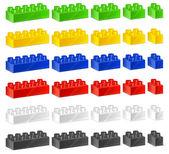 Children plastic constructor — Stock Vector