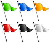 Conjunto de banderas del triángulo — Vector de stock