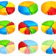 Color circular diagrams — Stockvectorbeeld