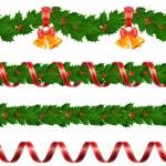 guirnaldas de Navidad — Vector de stock