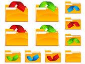 Folders with arrows — Stock Vector