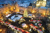 Trade fair in Prague. Christmas — Stock Photo