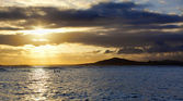 Sunset on Isabela, Galapagos — Stock Photo