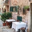 Straßencafé in alte Stadt rovinj — Stockfoto