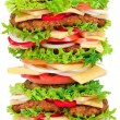 Stock Photo: Big hamburger