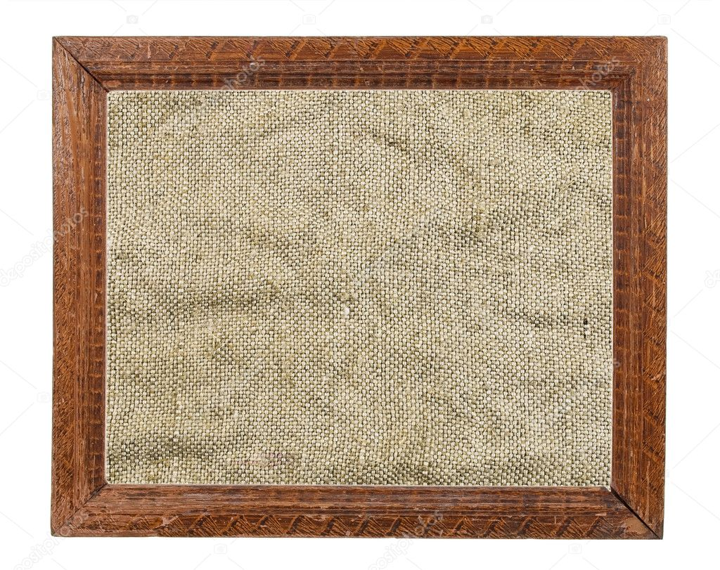 Wood Frame Texture : Wood Frame Texture : Old Wooden Frames with Burlap