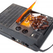 Magnetic audio tape cassette recorder - Stock Photo