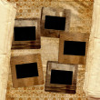 Grunge filmstrip from old papers on the abstract background. — Stock Photo #7530481