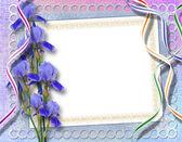 Elegantní rámec pro pozvání na pozadí abstraktní. — Stock fotografie