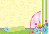 Blommiga barn ram — Stockvektor