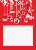 Bolas de navidad — Vector de stock