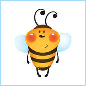 Funny bee in frame — Stock Vector